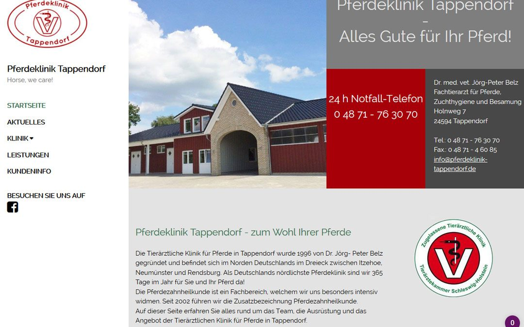 Projekt live: Pferdeklinik Tappendorf