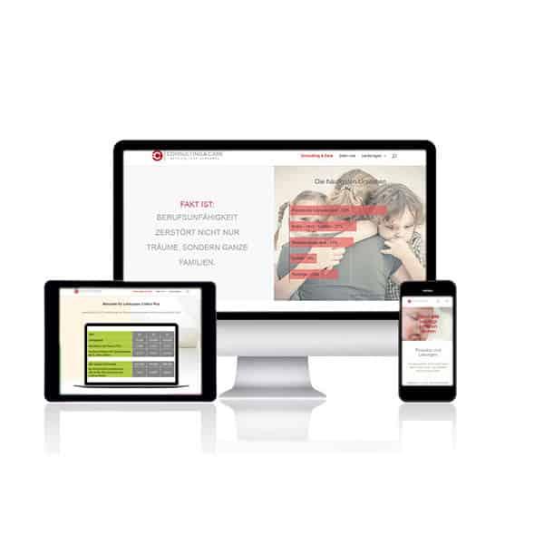 Webdesign für consulting care