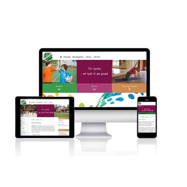 Website für TSV Sprötze