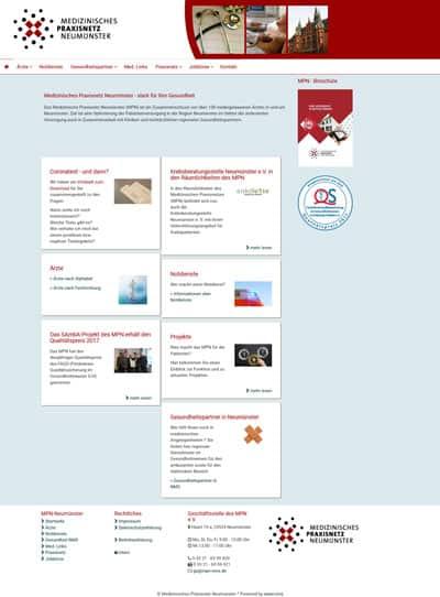 Screenshot Website MPN Neumünster