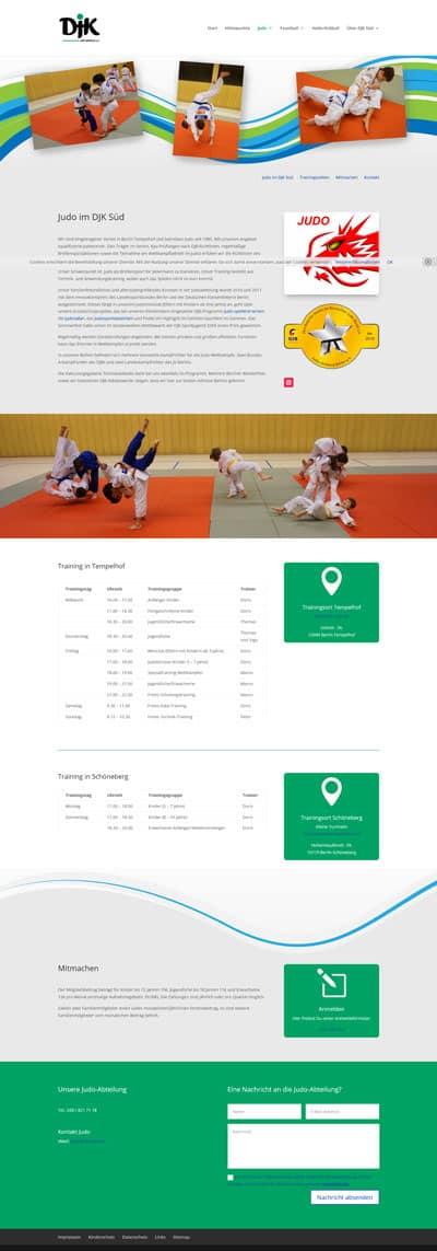 Screenshot Website DJK Süd Berlin