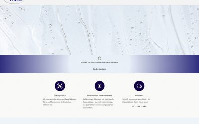 Projekt live: Glaserei Mertens