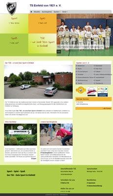 Screenshot Website TS Einfeld