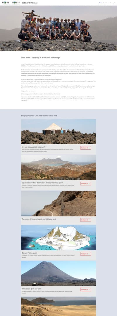 Screenshot Website Cabo Verde