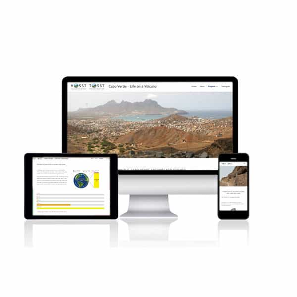 Website für Cabo Verde - Life on a volcano