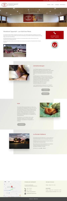 Screenshot Website Pferdeklinik Tappendorf