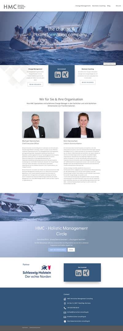 Webdesign für Hennschen Management Consulting