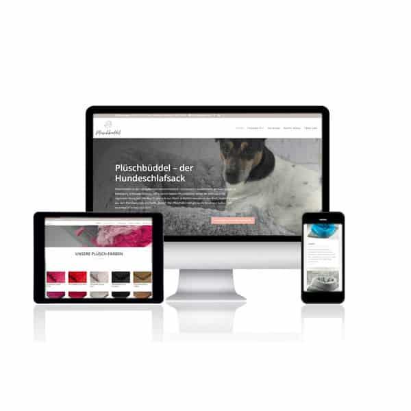 Website Plüschbüddel by Isefee