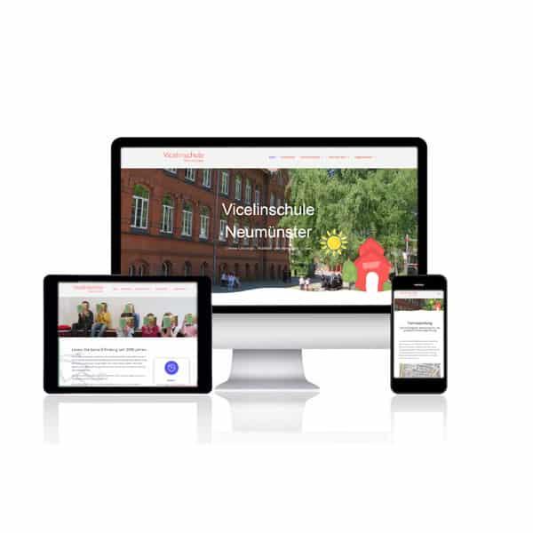 Website Vicelinschule Neumünster
