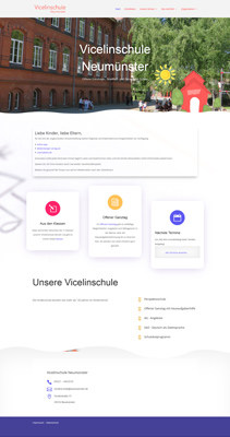 Screenshot Website Vicelinschule Neumünster