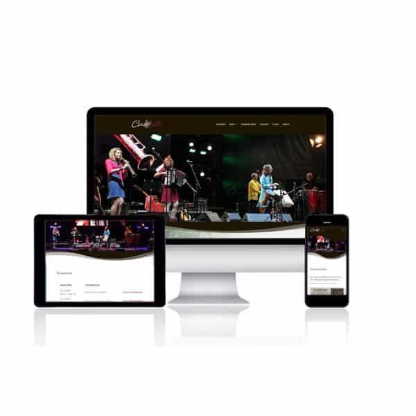 Website für Musikband Coeurballa