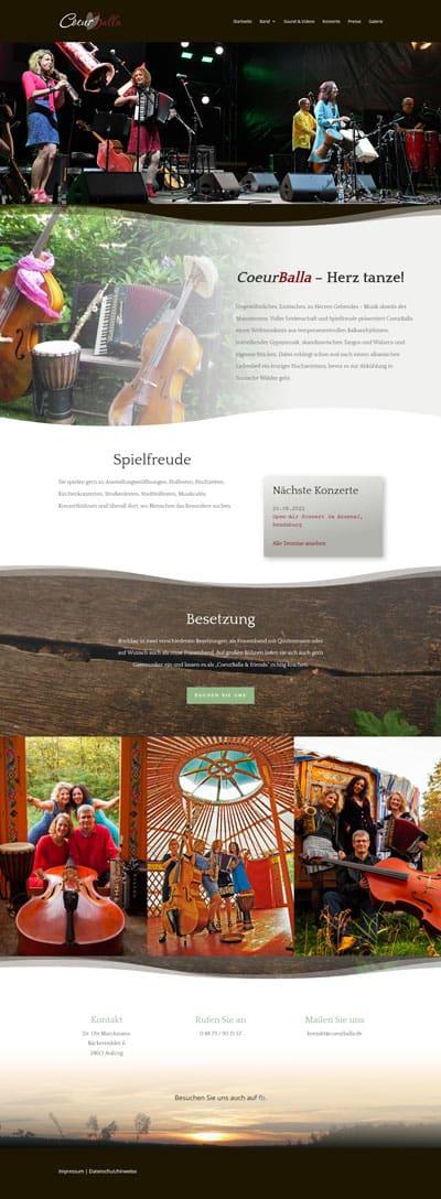 Screenshot Musikband Coeurballa