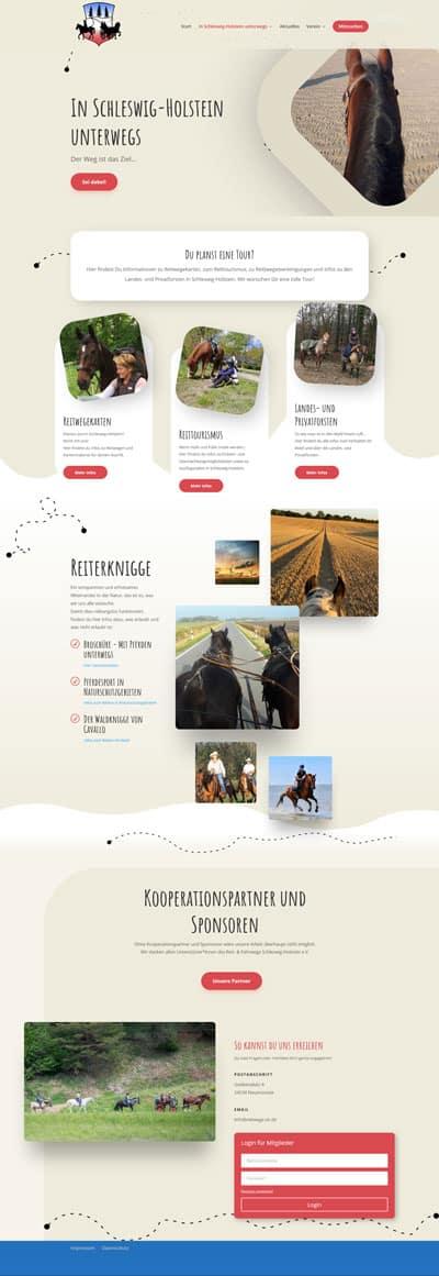 Screenshot Webseite reitwege-sh.de