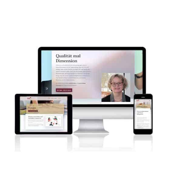 Webdesign für QxD - Qualität mal Dimension