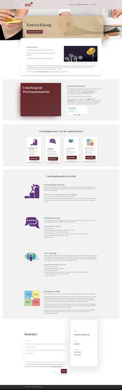 Screenshot Website QxD