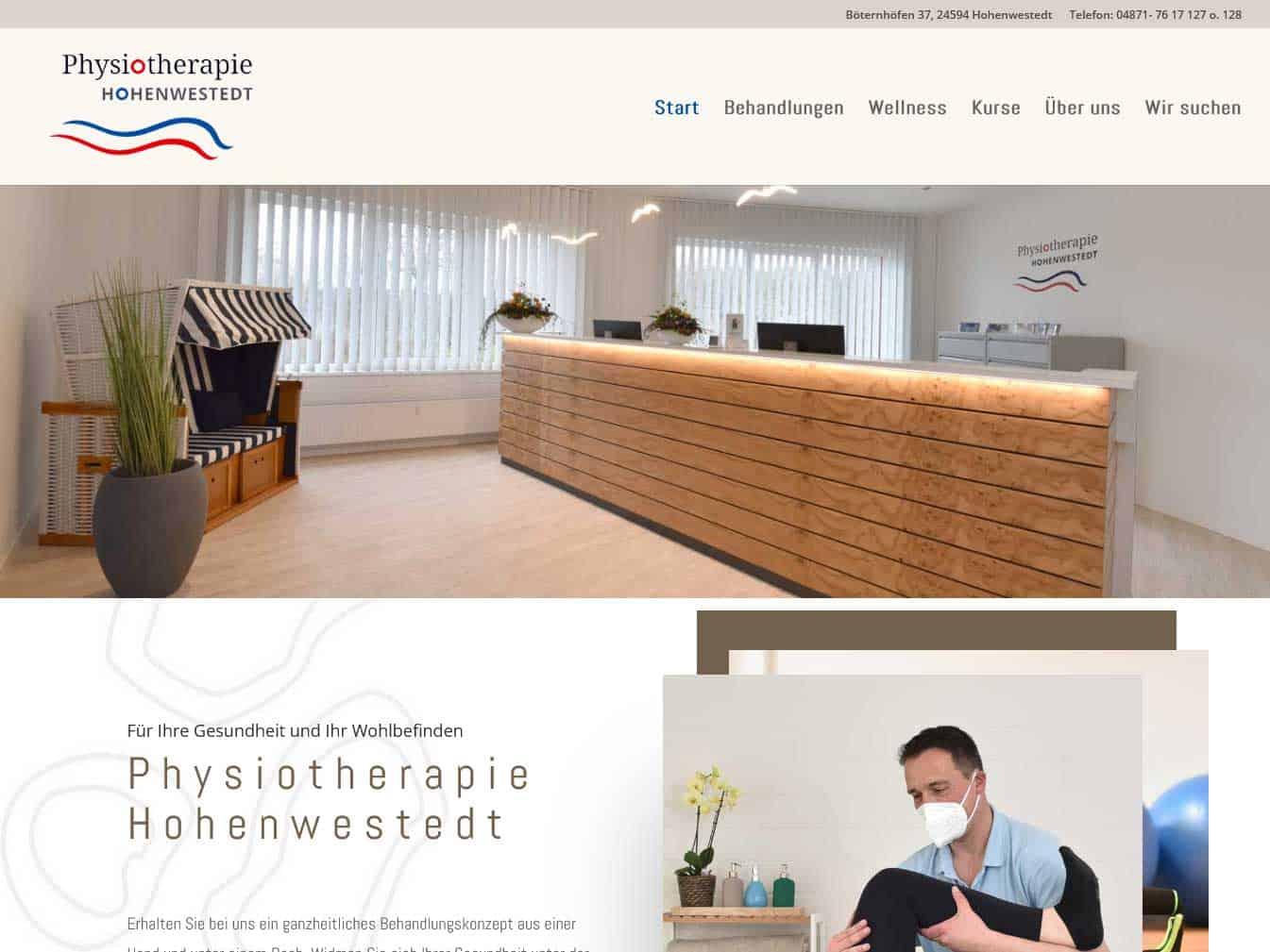 Webseite für Physiotherapie Hohenwestedt