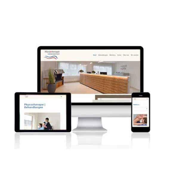 Webdesign von webwirbel.de - Physiotherapie Hohenwestedt