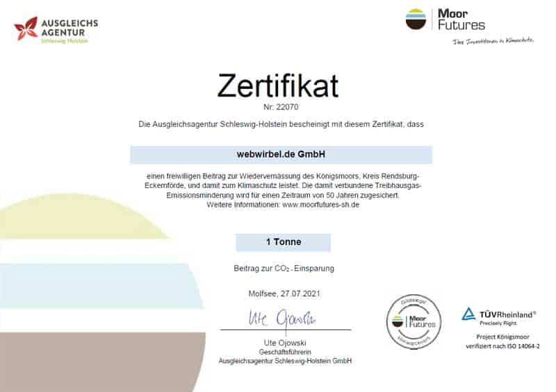 MoorFutures-Zertifikat