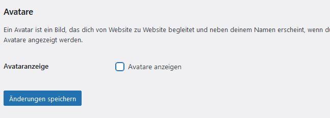 WordPress - Avatare