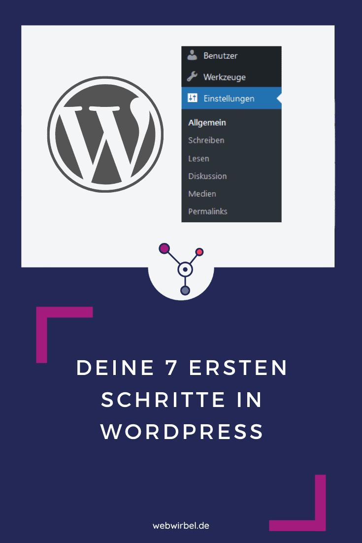 Wordpress Grundeinstellungen