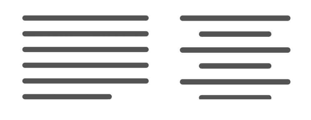 Textorientierung für besser lesbare Texte